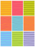Irregular line patterns in multiple colors Stock Photo