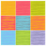 Irregular line patterns in multiple colors Royalty Free Stock Photography