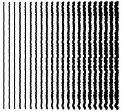 Irregular lines. Set of 22 distorted lines from thin to thick. Stock Photography