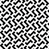 Irregular Maze Lines. Vector Black and White Pattern. Irregular Maze Lines. Zigzag stripes Pattern. Vector Black and White background Stock Photography