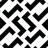 Irregular Maze Lines. Vector Black and White Pattern. Irregular Maze Lines. Zigzag stripes Pattern. Vector Black and White background Stock Images