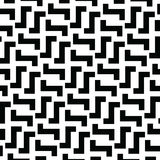 Irregular Maze Lines. Vector Black and White Pattern Stock Photos