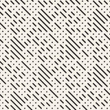 Irregular Maze Shapes Tiling Contemporary Graphic Design. Vector Seamless Black and White Pattern Stock Photos
