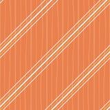 Irregular orange and white diagonal stripes design. Seamless vector on orange background with subtle doodle stripe royalty free illustration