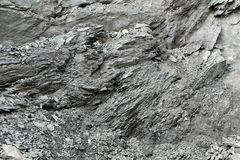 Irregular pattern of a rock face at a quarry Royalty Free Stock Images