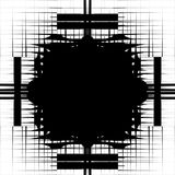 Irregular pattern of symmetric objects interconnected abstract. Geometric illustration  - Royalty free vector illustration Stock Images