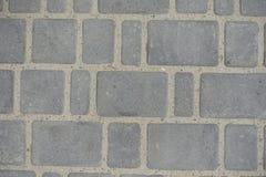 Irregular pavement made of concrete blacks Stock Photo