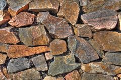 Irregular Quartz Stone Wall I Royalty Free Stock Photography