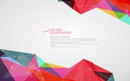 Irregular shape of dots, lines and faces, abstract design. royalty free illustration