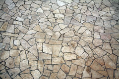 Irregular shaped stone floor. Arranged neatly together Royalty Free Stock Photo