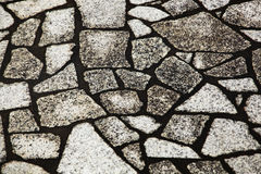Irregular shaped stone floor. Arranged together Royalty Free Stock Photo