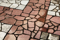Irregular shaped stone floor. Arranged together Stock Photography