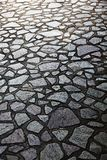 Irregular shaped stone floor. Arranged neatly together Royalty Free Stock Photography