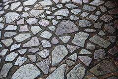 Irregular shaped stone floor royalty free stock photo