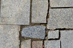 Irregular shaped stone sidewalk Stock Image