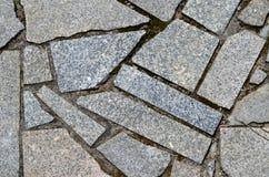 Irregular shaped stone sidewalk Royalty Free Stock Photo