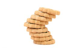 Irregular stack of biscuit. Royalty Free Stock Image