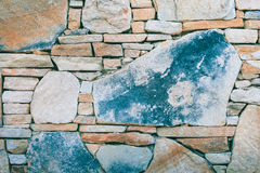 Irregular Stacked Natural Stone Wall Royalty Free Stock Photo