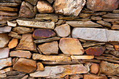 Irregular stone low wall Stock Images