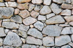 Irregular stone wall. Royalty Free Stock Photos