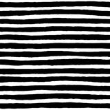 Irregular Striped Pattern. Irregular black striped pattern. Seamless hand drawn thin lines. Vector graphic print Royalty Free Stock Photos