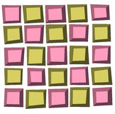 Irregular tile pattern frames in green pink over white Royalty Free Stock Photography