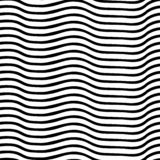 Irregular wavy lines black and white. Vector seamless pattern. Perfect for backgrounds.  stock illustration