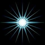 Irregular white star Stock Images