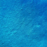 Irregularities of fragment of the wall, blue color Royalty Free Stock Photos