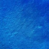 Irregularities of fragment of the wall, juicy blue color Stock Photos
