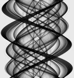 Irregularitiy of the black and white vector illustration