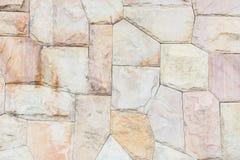 Irregularly stones wall surface. Gray background of modern style decorative irregularly stone wall surface Stock Photo