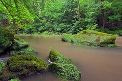 Irreler河在德国。 免版税库存图片