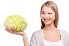 Irreplaceable cabbage. Royalty Free Stock Images