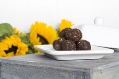 Irresistible healthy Energy Balls Stock Images