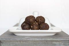 Irresistible healthy Energy Balls Stock Photos