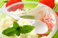 Irresistible strawberry shortcake dessert Stock Image