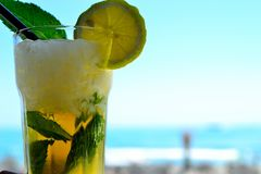 Irresistibly fresh and punchy Mojito coctail Royalty Free Stock Photography