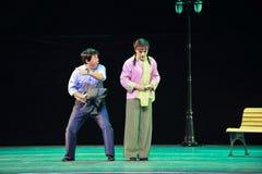 Irresolute and hesitant-Jiangxi OperaBlue coat Stock Image