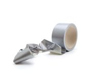 Irreversible phenomenon. Tangled up duct tape. Royalty Free Stock Photos