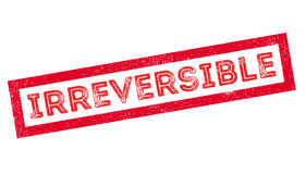 Irreversible rubber stamp Stock Image