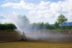 Irrigação do campo, Italy Imagens de Stock
