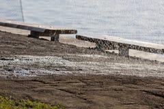 Irrigação do gramado Imagens de Stock