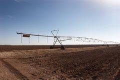 Irrigación de la granja Fotografía de archivo libre de regalías