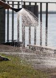 Irrigación del césped Foto de archivo