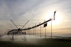 irrigación del Centro-pivote Fotos de archivo libres de regalías