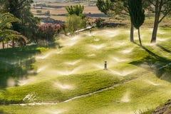 Irrigación del parque Fotografía de archivo libre de regalías