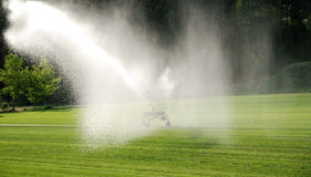 Irrigate lawn Stock Photos