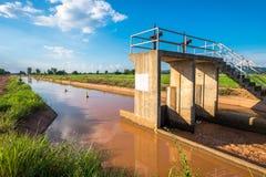 Irrigatiekanaal Stock Foto's