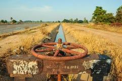 Irrigatiekanaal Royalty-vrije Stock Afbeeldingen